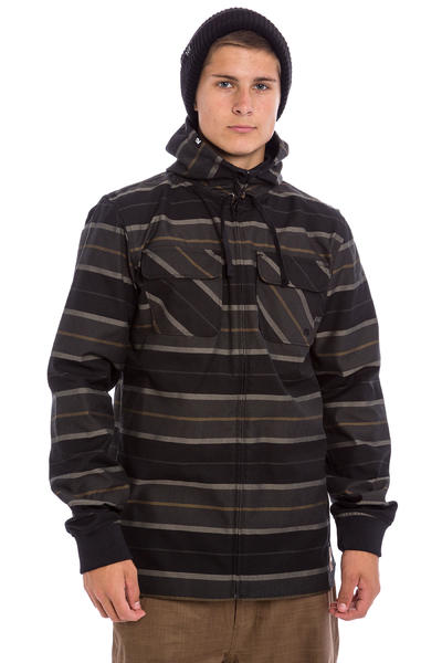 Analog Integrate Neige Chandails-zip (true black)