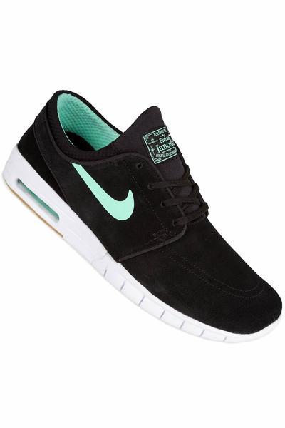 Nike SB Stefan Janoski Max Suede Zapatilla (black green glow)