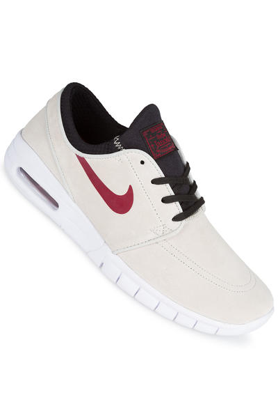 Nike SB Stefan Janoski Max Suede Shoe (light bone team red)