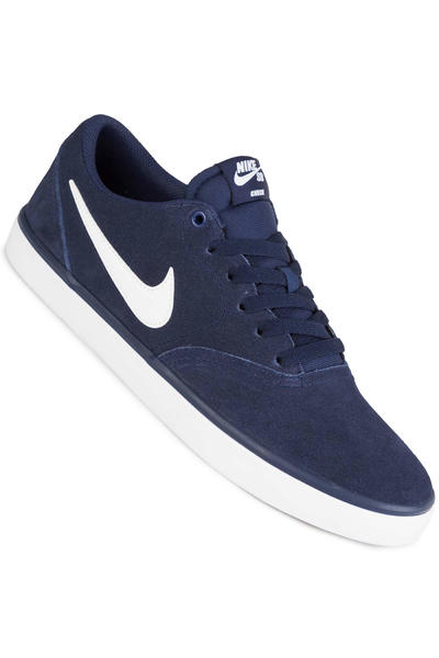 Nike SB Check Solarsoft Shoe (midnight navy white)