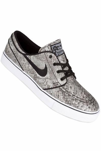 Nike SB Zoom Stefan Janoski Premium TXT Schuh (black white green glow)