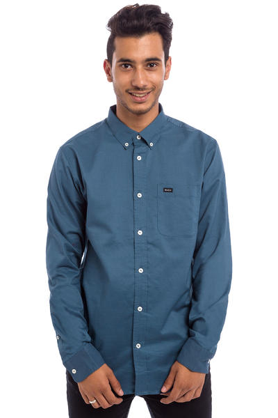 RVCA That'll Do Oxford Shirt (dark denim)