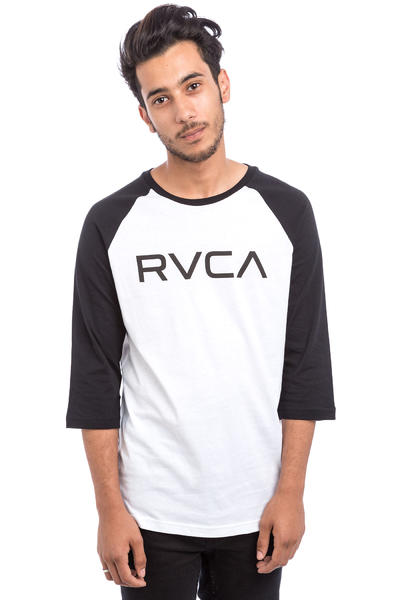 RVCA Big RVCA Raglan 3/4 Longues Manches (white black)