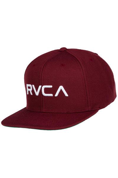 RVCA Twill III Snapback Cap (white wine)