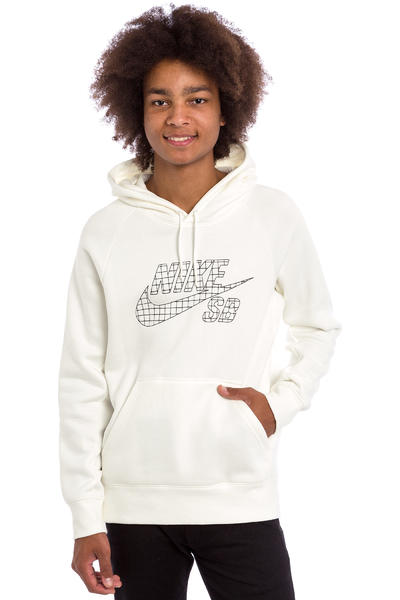 Nike SB Icon Grid Fill Hoodie (ivory black)