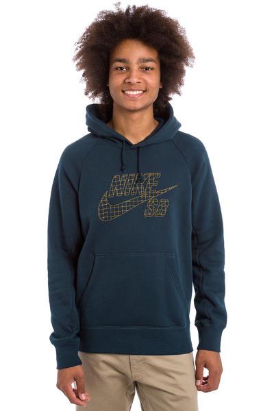 Nike SB Icon Grid Fill Hoodie (obsidian peat moss)