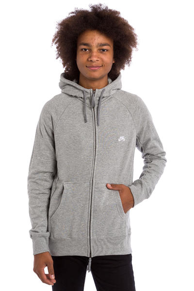 Nike SB Everett Zip-Hoodie (dark grey heather white)