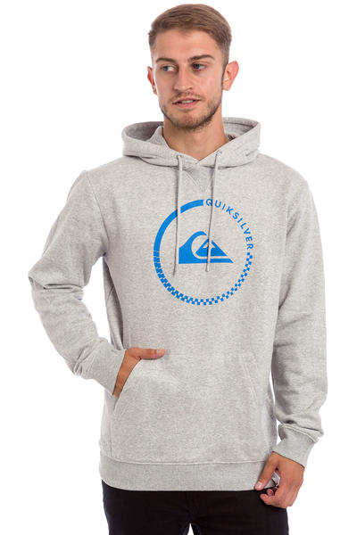Quiksilver Big Logo Hoodie (light grey heather)