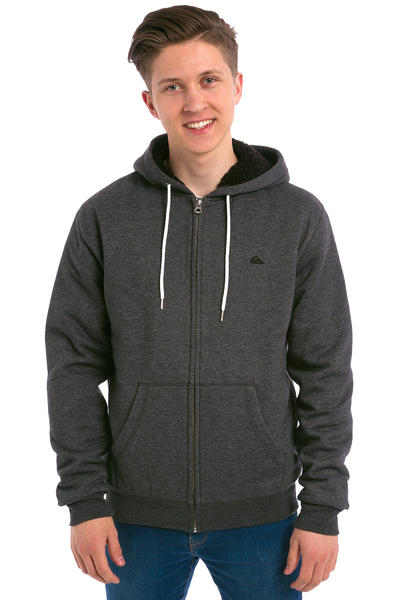 Quiksilver Epic Outback Sherpa Zip-Hoodie (dark grey heather)