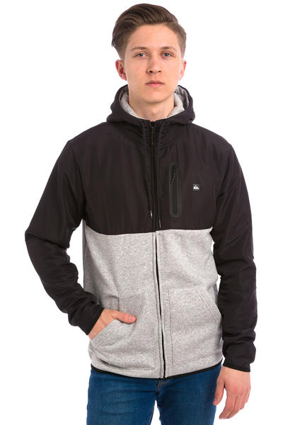 Quiksilver Active Nylon Zip-Hoodie (light grey heather)