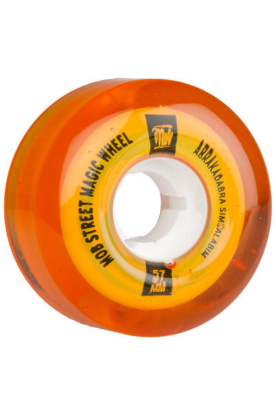 MOB Skateboards Street Magic 57mm Rollen (clear orange) 4er Pack