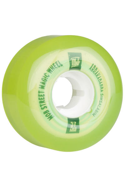 MOB Skateboards Street Magic 57mm Wheel (clear lime) 4 Pack