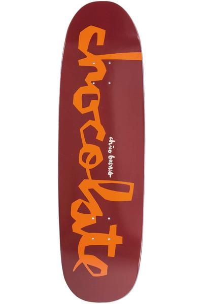 "Chocolate Brenes Powerslide Big Boy 9"" Deck (burgundy)"