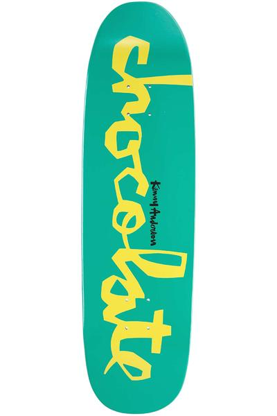"""Chocolate Anderson Powerslide Skidul 8.25"""" Planche Skate (turquoise)"""