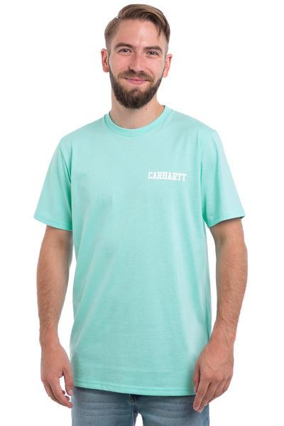Carhartt WIP College Script Pastels T-Shirt (lagoon white)