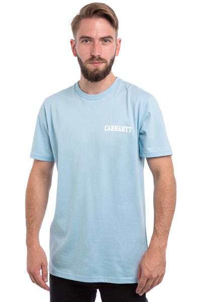 Carhartt WIP College Script Pastels T-Shirt (soft blue white)