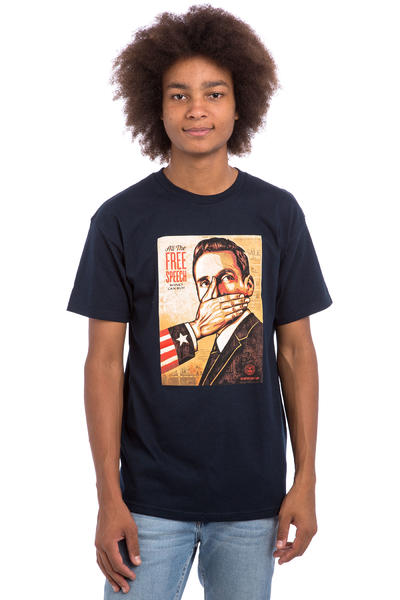 Obey Pay Up Or Shut Up! T-Shirt (navy)