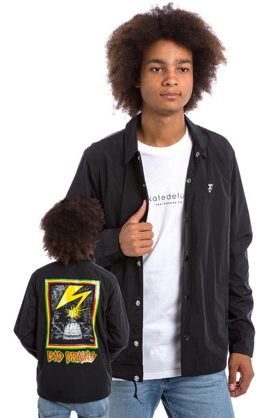 Obey x Bad Brains Capitol Coach Jacke (black)