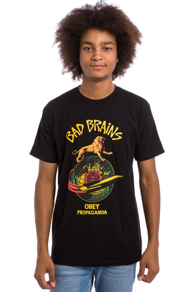 Obey x Bad Brains Rocket T-Shirt (black)