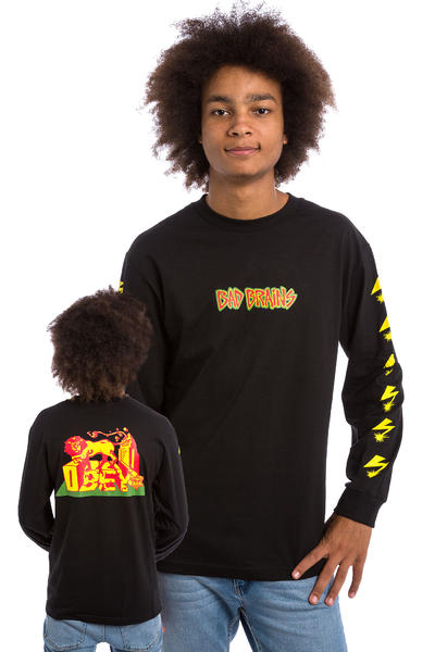 Obey x Bad Brains Conquering Lion Longsleeve (black)