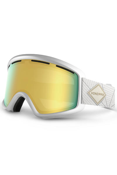 VonZipper Beefy Goggles (white gloss gold chrome)