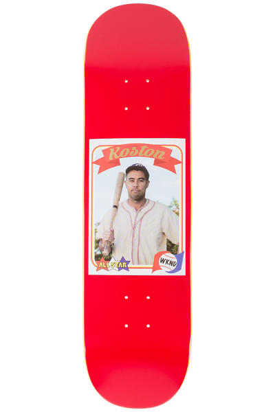"""WKND Koston Trading Card 8.25"""" Planche Skate (red)"""