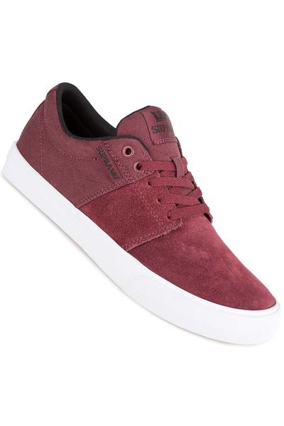 Supra Stacks Vulc II Schuh (burgundy black white)