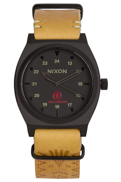 Nixon The Time Teller Taka Hayashi Watch (black tan taka)