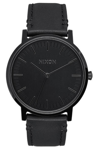 Nixon The Porter Leather Watch (all black)