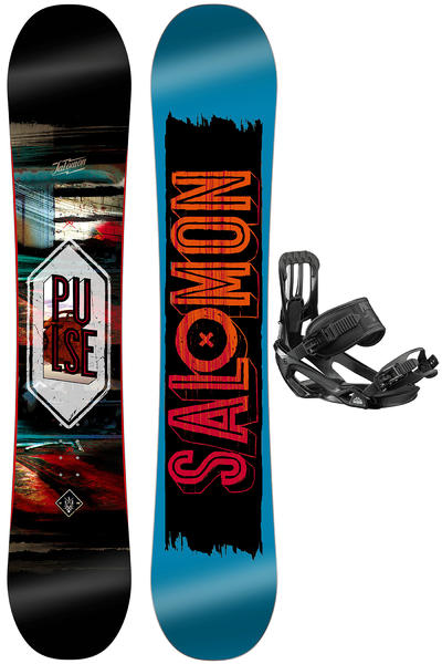 Salomon Pulse 162cm Wide / Pact L Snowboardset 2016/17