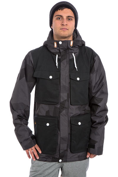 Colour Wear Load Snowboard Jacke (asymmetric black)