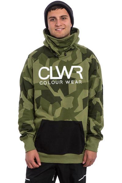 Colour Wear Bowl Snow Hoodie (asymmetric loden)
