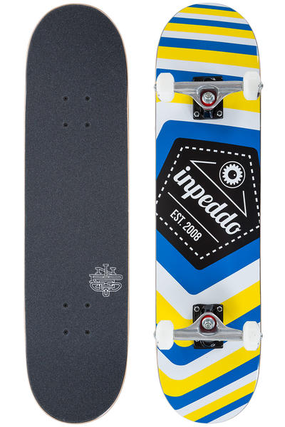 "Inpeddo Big Logo 7.75"" Komplettboard (white blue yellow)"