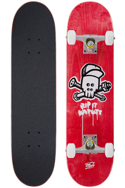 "MOB Skateboards Team Skull Mini 7.25"" Complete-Board (red)"