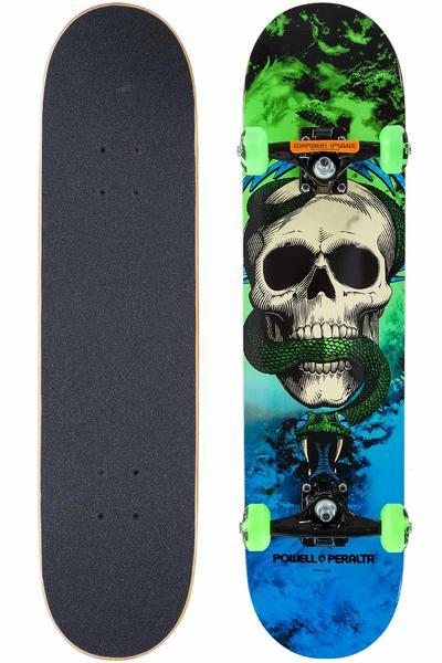 "Powell-Peralta Skull & Snake Storm 7.625"" Komplettboard (green blue)"