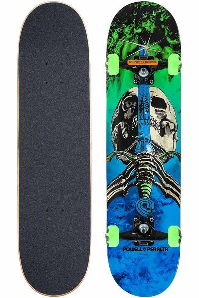 "Powell-Peralta Skull & Sword Storm 7.875"" Komplettboard (green blue)"