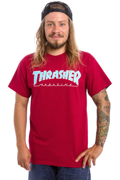 Thrasher Outlined Camiseta (cardinal)