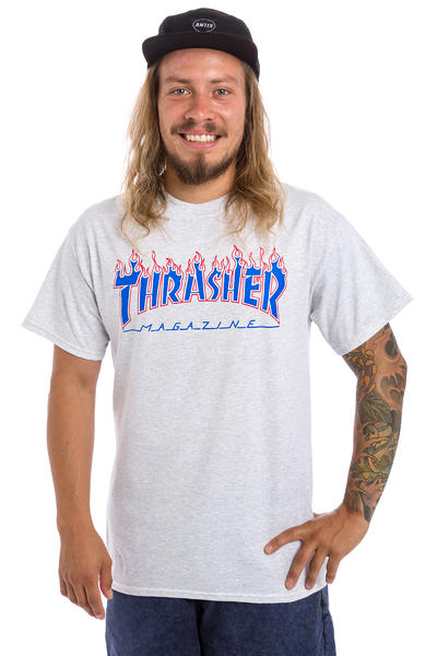 Thrasher Patriot Flame T-Shirt (ash grey)