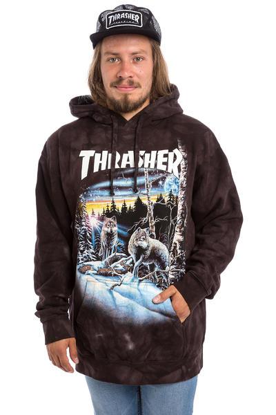Thrasher 13 Wolves Hoodie (black tie dye)
