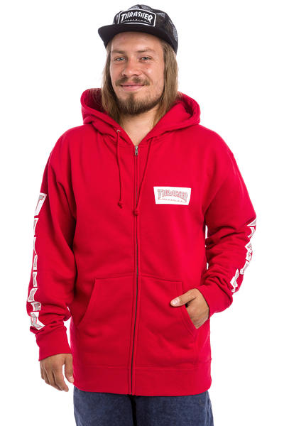 Thrasher Boxed Logo Zip-Hoodie (red)