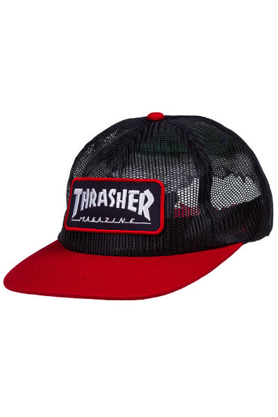 Thrasher Magazine Logo Mesh Gorra (navy red)