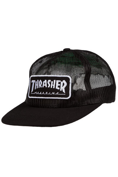 Thrasher Magazine Logo Mesh Cap (black white)