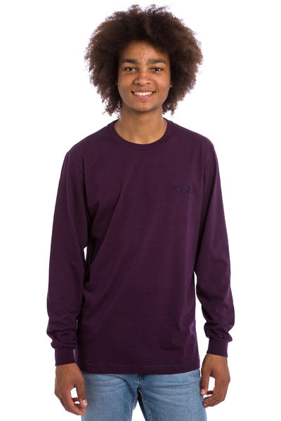 Polar Skateboards Micro Stripe Longsleeve (bugundy navy)