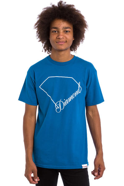 Diamond Linear Script T-Shirt (royal)