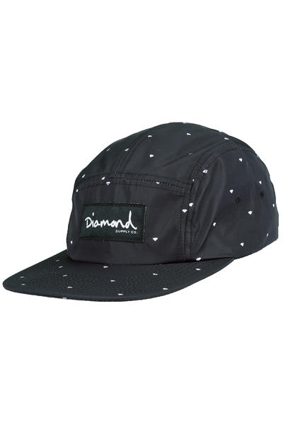 Diamond Deco 5 Panel Cap (black)