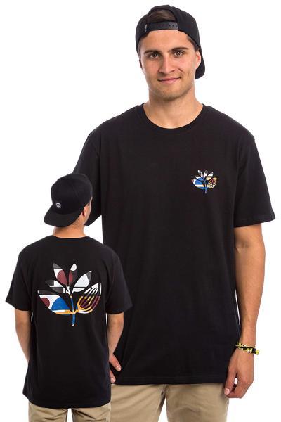 Magenta Abstract Camiseta (black)