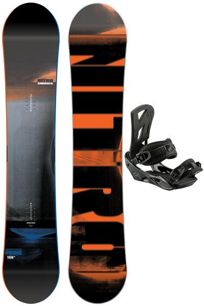 Nitro Prime 158cm / Staxx L Snowboardset 2016/17