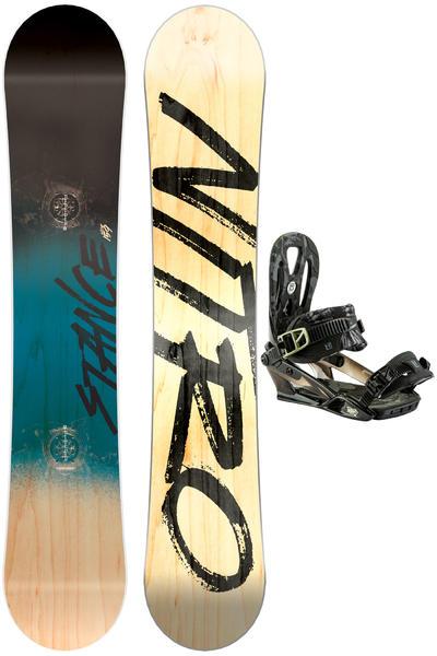 Nitro Stance Wide 159cm / Wizzard L Set de Snowboard 2016/17
