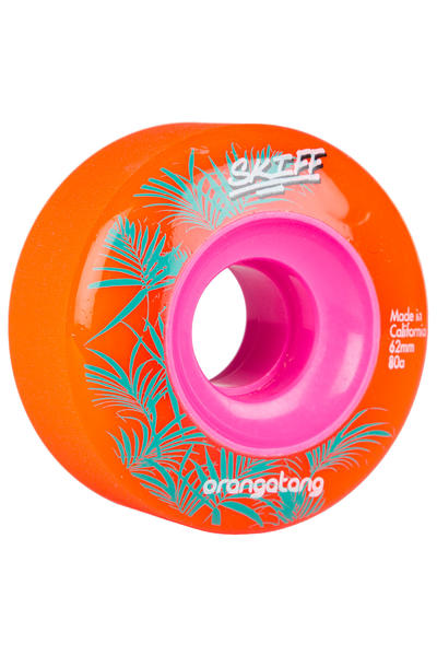 Orangatang Skiff 62mm 80A Rollen (orange) 4er Pack