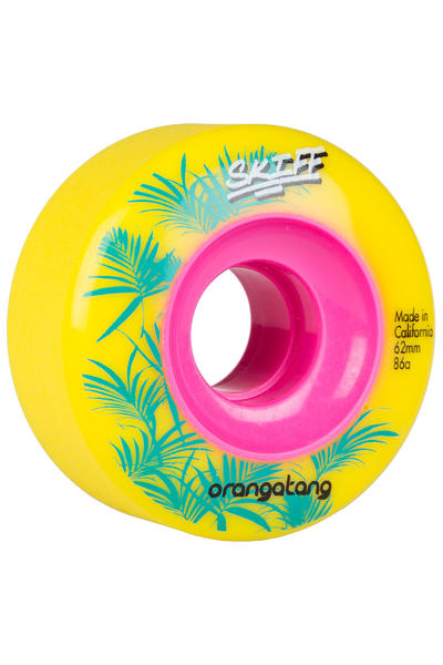 Orangatang Skiff 62mm 86A Rollen (yellow) 4er Pack